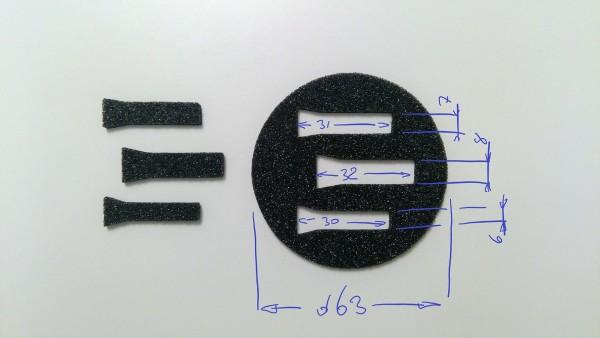 Schaumstoffeinsatz / Einlage Spezialform / GDL-9019