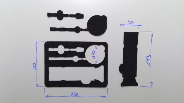 Schaumstoffeinsatz / Einlage 220x160mm / PL629
