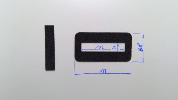 Schaumstoffeinsatz / Einlage 133x68mm mit Ausschnitt 102x21mm / PL632