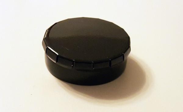 runde Blechdose mit Klick-Klack-Deckel (D45*15mm), schwarz