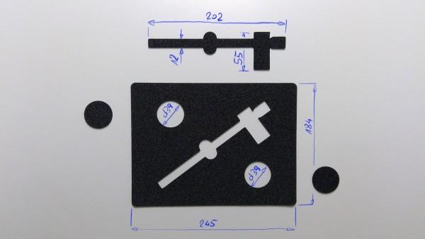 Schaumstoffeinsatz / Einlage 245x184mm / PL630