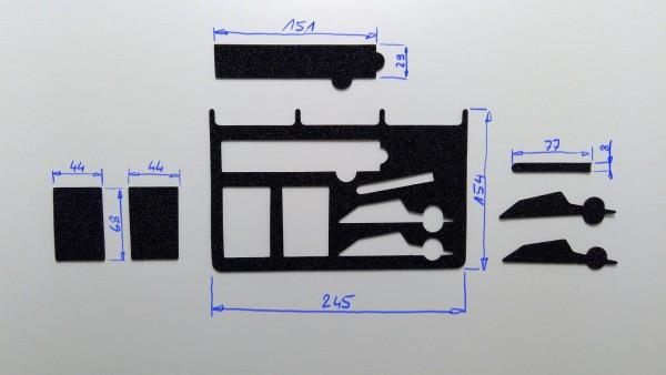 Schaumstoffeinsatz / Einlage 245x154mm / PL630