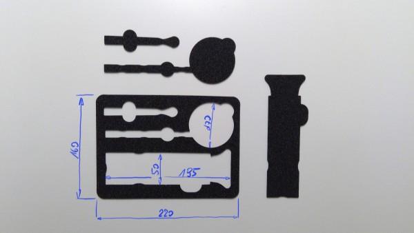 Schaumstoffeinsatz / Einlage 220x160mm / GDO-A535