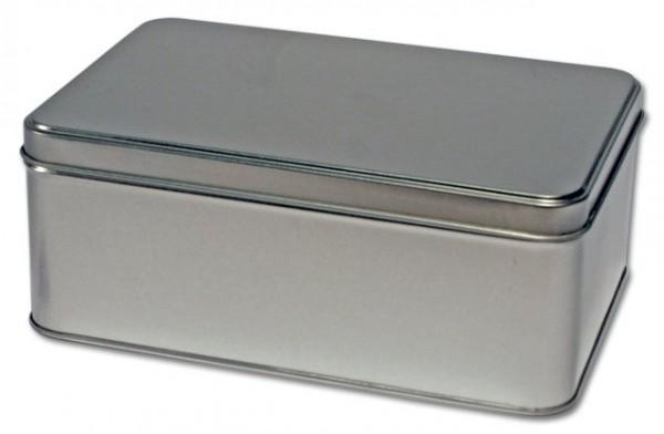Rechteckige Blechdose mit Scharnierdeckel (192x127x75mm)