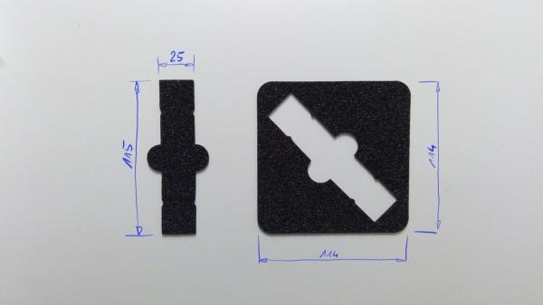 Schaumstoffeinsatz / Einlage 114x114mm / GDL-9017