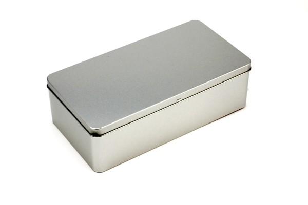 rechteckige Blechdose mit Scharnierdeckel (261*135*76mm)