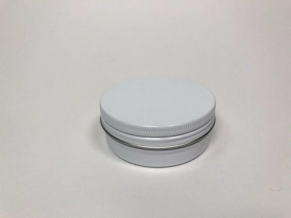 0075ml weisse Aluminiumdose mit Schraubdeckel (D67*25mm)