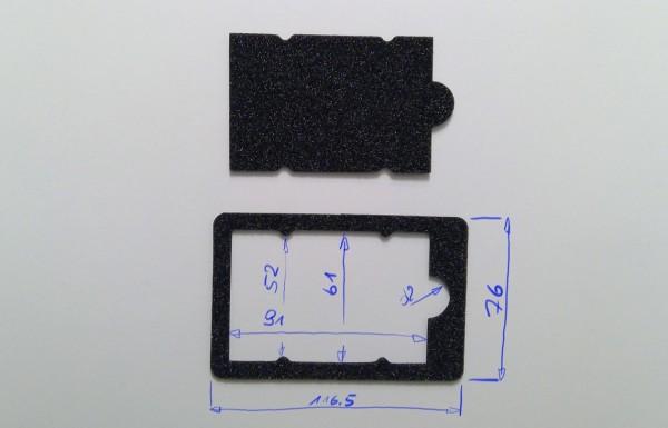 Schaumstoffeinsatz / Einlage Geschenkkarte / PL412