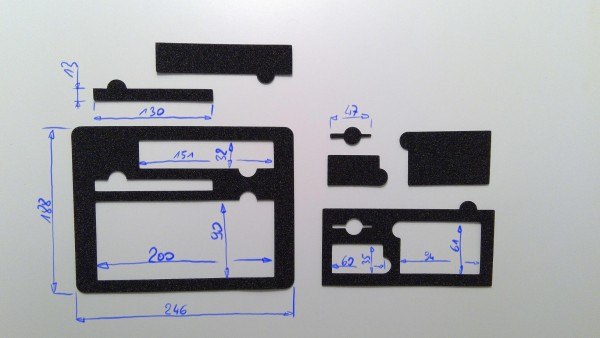 Schaumstoffeinsatz / Einlage 246x188mm /