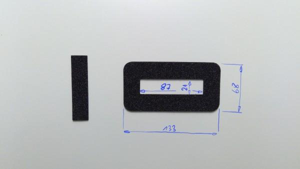 Schaumstoffeinsatz / Einlage 133x68mm mit Ausschnitt 87x21mm / PL632