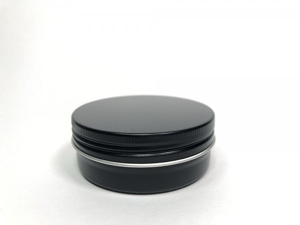 0075ml schwarze Aluminiumdose mit Schraubdeckel (D67*25mm)