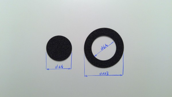 Schaumstoffeinsatz / Einlage d103mm - d64mm / PL432, WIN904