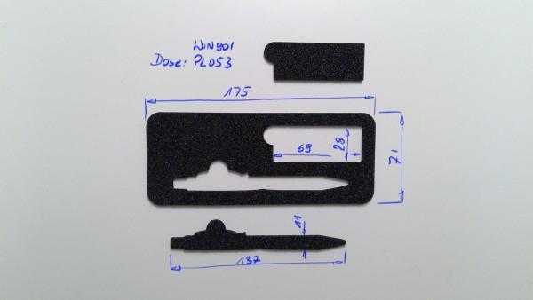 Schaumstoffeinsatz / Einlage für Stift / PL053, WIN901
