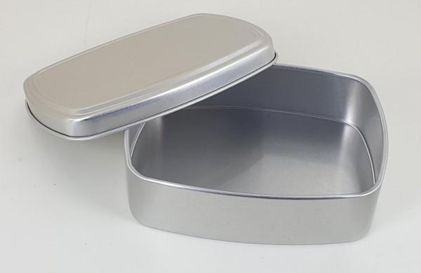 Rechteckige Aluminiumdose mit Stülpdeckel (96x70x28mm)