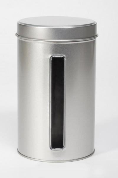 Runddose mit Sichtfenster und Stülpdeckel (d107x178mm)