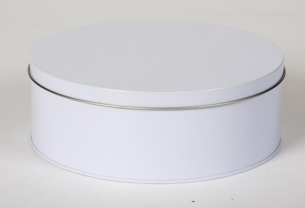 weisse Runddose mit Stülpdeckel (D179x60mm)
