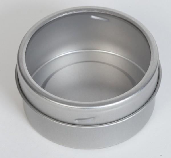 Twistdeckeldose mit Sichtfenster und Magnet (Ø65x30mm)