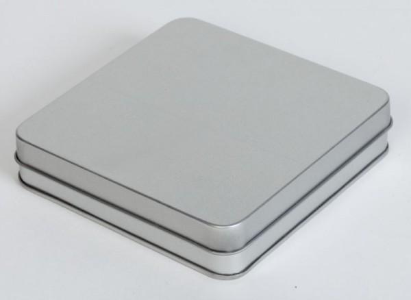Quadratische Dose mit Scharnierdeckel (120x120x25mm)
