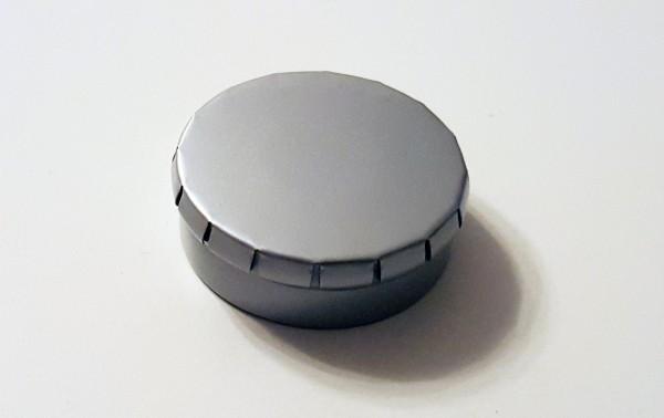 runde Blechdose mit Klick-Klack-Deckel (D45*15mm), grau