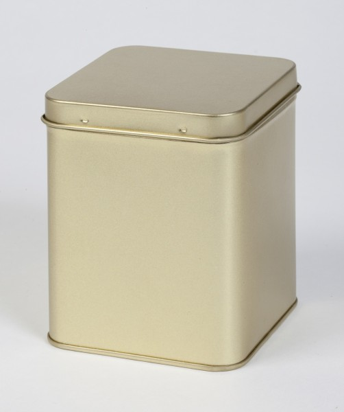 goldfarbende Scharnierdeckeldose (88x88x115mm)