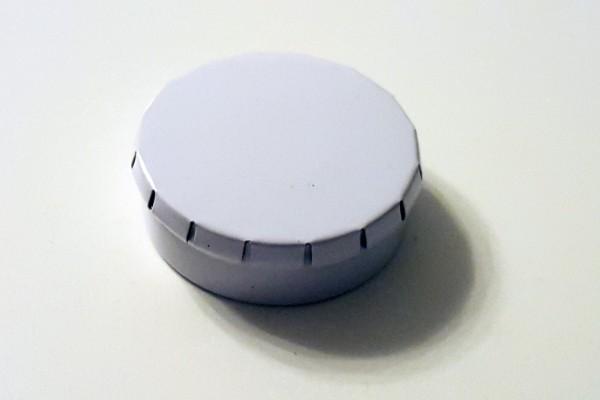 runde Blechdose mit Klick-Klack-Deckel (D45*15mm), weiss