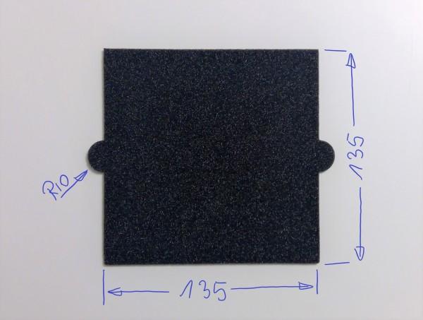 Schaumstoffeinsatz / Einleger 135mm /