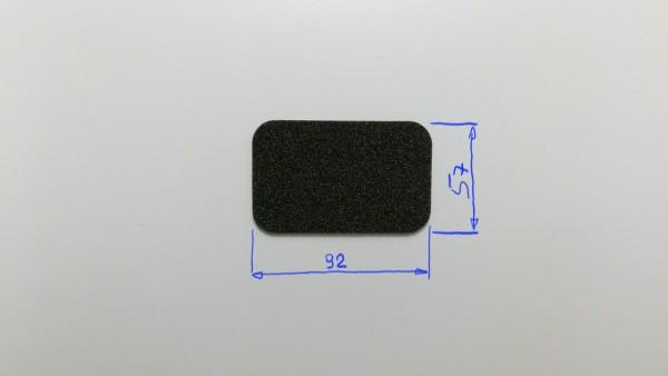 Schaumstoffeinsatz / Einlage 92x57mm / PL422