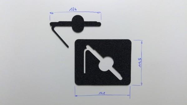 Schaumstoffeinsatz / Einlage 141x114mm/ GDO-I054 (NOT PL635)