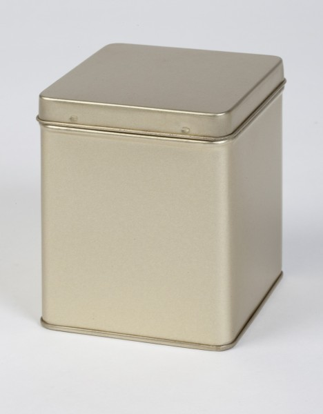 goldfarbende Scharnierdeckeldose (75x75x92mm)