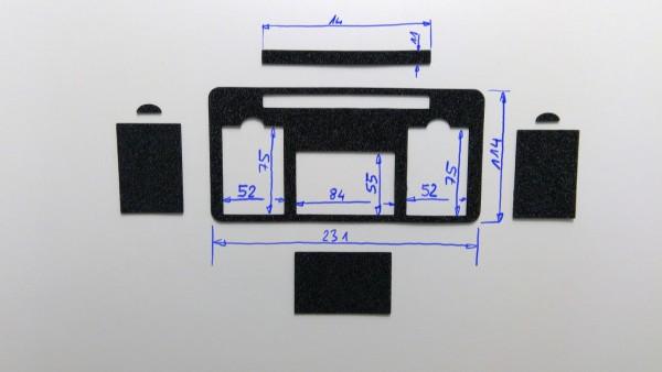 Schaumstoffeinsatz / Einlage 231x114mm / PL631, WIN665