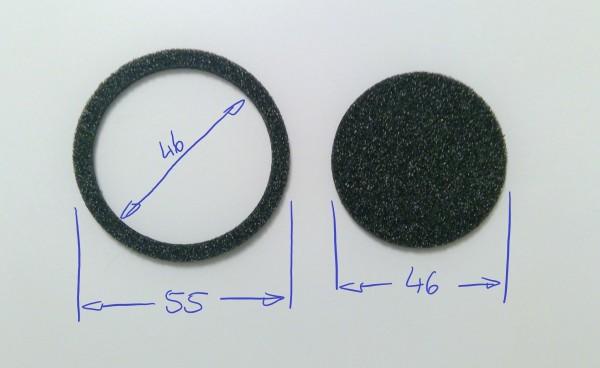 Schaumstoffeinsatz / Einlage d55 / d46 /