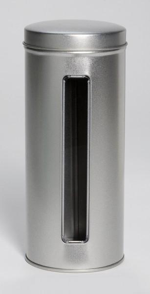 Runddose mit Sichtfenster und Stülpdeckel (d76x170mm)