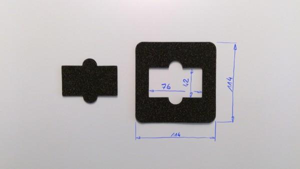 Schaumstoffeinsatz / Einsatz 114x114mm Karte / GDL-9017