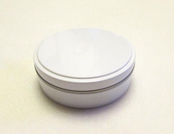 runde weisse Blechdose mit Stülpdeckel (d75*23mm)