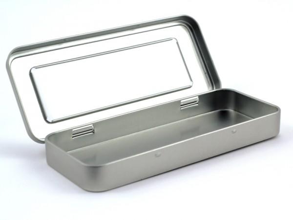 Rechteckige Scharnierdeckeldose mit Sichtfenster (181*76*22mm)