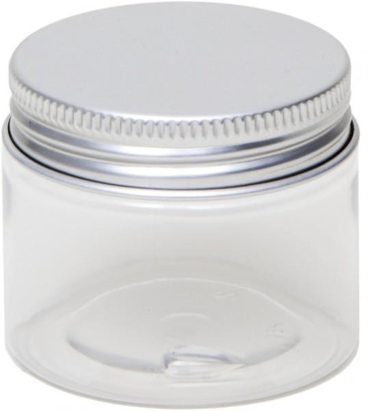 50ml PET Dose mit Aluminium Schraubdeckel (D50x41mm)