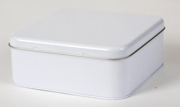 weisse Quadratische Dose mit Stülpdeckel (165x165x65mm)